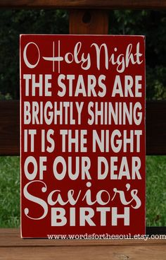 Oh O Holy Night Sign