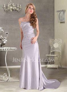 Bridesmaid Dresses - $144.99 - Nice Mermaid Strapless Chapel Train Taffeta Bridesmaid Dress With Ruffle Beading (007004203) http://jenjenhouse.com/pinterest-g4203