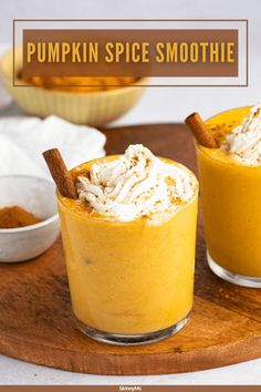Pumpkin Spice Smoothie Pumpkin Spice, Pumpkin Puree, Ww Recipes, Slow Cooker Recipes, 5 Minute Meals, Healthy Dinner Options, Spices, Breakfast Smoothie Recipes, Skinny Ms