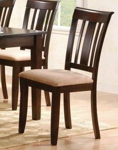 """2-pc Set New Beautiful Design Dining Chair PDS F10213 by Click 2 Go. $219.99. espresso finish. chair size:18""""Wx18""""Dx38""""H. only the dining chair in the second picture. Dining chair set of 2. some assembly maybe required."""