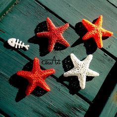 3d Pen starfishes and a fish bone ClarArt - creations & ideas: Aria di mare..