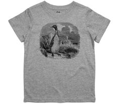 El Cheapo Antarctic Penguin Toddler Grey Marle T-Shirt