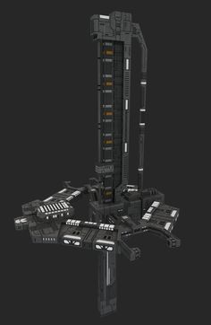 SMACs or Orbital Defense Platforms (ODP's) can reliably take down almost any Covenant Vessel in a single shot, but are very costly to build early game. Spaceship Art, Spaceship Design, Concept Ships, Concept Art, Halo Ships, Starship Concept, Halo Game, Sci Fi Spaceships, Space Engineers