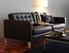 Sofa ikea leder  Landskrona bank van IKEA - donderbruin | RENOVATION | Pinterest ...