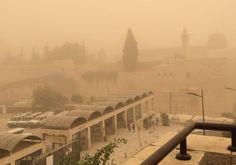 Hazy, dusty conditions in Israel Photo By: Lahav Harkov