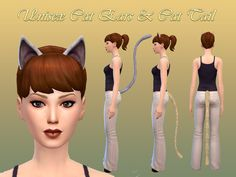 NotEgain's Sims 4 Studio Cat ears and tail | Sims 4 Updates -♦- Sims Finds & Sims Must Haves -♦- Free Sims Downloads