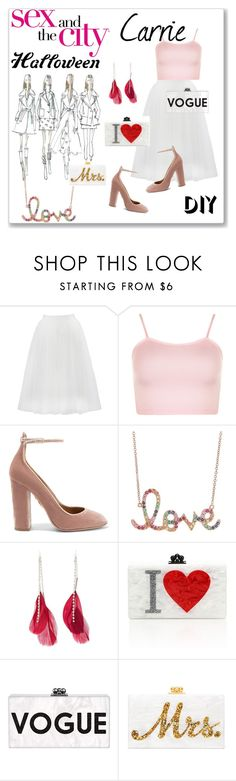 """DIY Halloween Costume"" by alinepinkskirt ❤ liked on Polyvore featuring Bailey 44, WearAll, Aquazzura, Sydney Evan, Charlotte Russe, Edie Parker, halloweencostume and DIYHalloween"