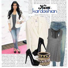 """532. Celeb Style : Kim Kardashian (01.04.2010)"" by munarina on Polyvore"