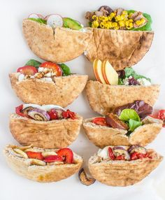 What's more portable than a pita? 10 Easy Ways to Stuff a Pita Pocket Lunch Snacks, Healthy Snacks, Healthy Recipes, Easy Healthy Lunch Ideas, Easy Recipes, Eat Healthy, Pain Pita, Pita Sandwiches, Sandwich Ideas