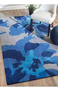 Rugs USA Inspire Floral EV16 Blue Rug. Rugs USA pre BlACK FRIDAY SALE 75% Off! Area rug, rug, carpet, design, style, home decor, interior design, pattern, home interior,  trends, home, statement, fall,design, autumn, cozy, sale, discount, interiors, house, free shipping, fall decorations, fall crafts, fall décor, great winter, winter, warm, furniture, chair, art.