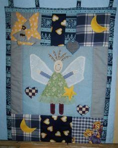 Angel wall quilt <3  Welcome to my facebook page: https://www.facebook.com/Wilhelmine-Wiesenkraut-802474093168101/timeline/?ref=hl