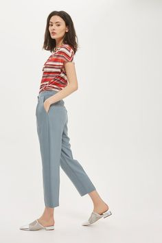 Cropped Peg Trousers