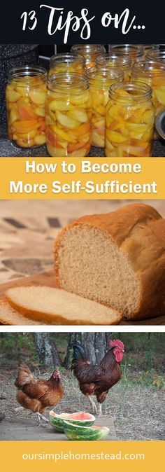 13 Ways on How to Become More Self-Sufficient - When you make the mindful choice to simplify your life you automatically start thinking of ways you can take care of yourself and become more self-sufficient.