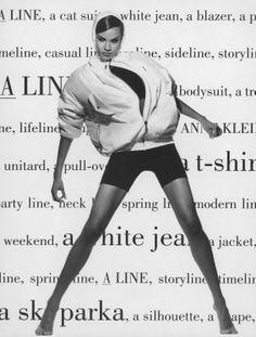 A line by Anne Klein Ad, '90s, Shot by Steven Klein #ClaudiaMason #HighFashion.