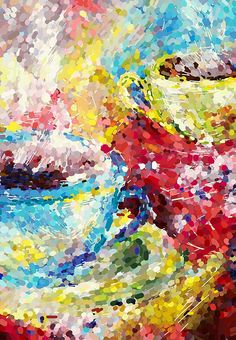 CANVAS PRINT Colorful Coffee Tea Cups Cafe Wall Art