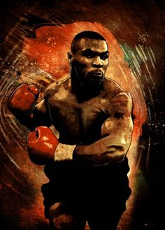 mike tyson iron kid dynamite boxing sport red gloves ring legend fighter fighting champion Characters