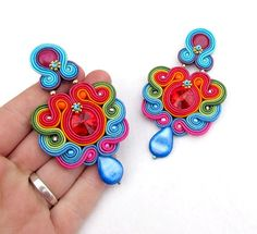 Rainbow Colorful Clip-on Earings by StudioGianna