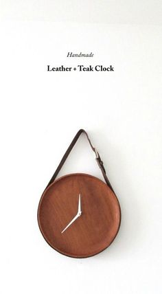 This teak and leather hanging clock is the perfect DIY home decor to add to your living room, bedroom, or home office. This quick and easy tutorial will give you a step-by-step guide to make a handmade clock of your own that is simply one-of-a-kind.