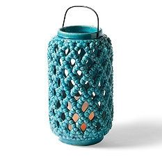 Love the color of this lantern  | Fresh & Fab Outdoor Pad