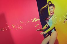 Bubble Shooter — Colorful swimwear editorial inspired from retro video game Bubble Shooter. Starring Rocio La Fuente photographed by Mikel M...