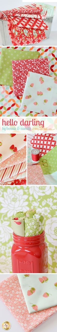Hello Darling by Bonnie & Camille for Moda Fabrics is a new, modern, fabric collection available at Shabby Fabrics!