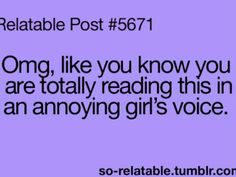 That annoying girl voice in your head
