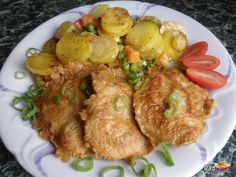 Kuracie prsia v cestíčku so smotanovými zemiakmi Snack Recipes, Snacks, Snack Box, Food 52, Tandoori Chicken, Poultry, Ham, Food And Drink, Menu
