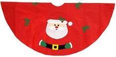 Amazon.com: Festive Christmas Tree Skirt (Santa): Home & Kitchen Tree Skirts, Festive, Santa, Christmas Tree, Amazon, Holiday Decor, Kitchen, Home Decor, Teal Christmas Tree