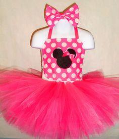 Minnie Mouse Tutu Dress (Pageant, Birthday, Costume, Mickey, Pink, Disney)