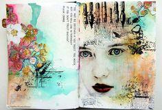 Art journals, art journal pages, journal ideas, sketchbook pages, art pag. Art Journal Pages, Art Journals, Journal Ideas, Artist Journal, Kunstjournal Inspiration, Sketchbook Inspiration, Mixed Media Journal, Mixed Media Art, Mix Media