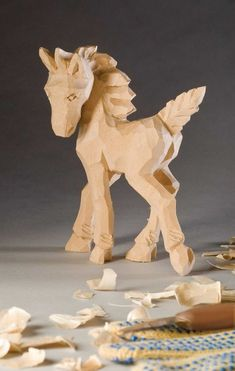 Simple stylized horse is easy to carve By Floyd Rhadigan This adorable little colt only requires a few tools to complete. Novice carvers can expect excellent results in a relatively short period of time and more experienced carvers can finish the project in a single day. My first carving project …