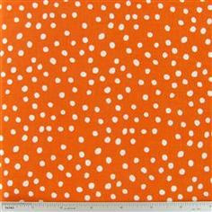 CCW8-23 Small Dots on Tangerine Fabric