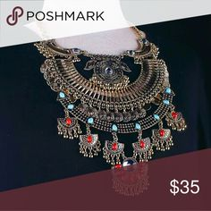 Tribal Gold Statement Necklace Hello Lovelies! This is a luxe stunning Tribal Gold Statement Necklace. Jewelry Necklaces