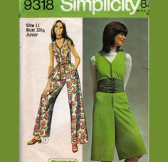 1970s Vintage Sewing pattern Simplicity by allthepreciousthings,
