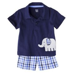 Just One You™Made by Carter's® Newborn Infant Boys' 2 Piece Set - Blue/Heather Gray