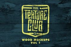 Wood Mockups + 5 FREE WOOD VECTORS by Texture Club on @Graphicsauthor