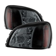 Smoke Headlamps For 2000 2001 2002 2003 2004 2005 Cadillac Deville Headlights Replacement Left+Right 00 01 02 03 04 05 19245429, 19245430,GM2502208, GM2503208, Silver