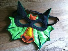 DRAGON Mask,Wings, and Tail Play Set, Dragon Costume, Kid Costume, Felt Animal Mask and Tail