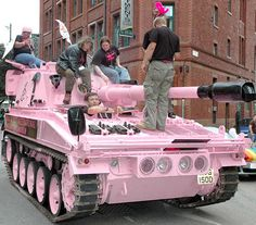 The Amnesty International Pink Tank 'On Patrol ☆ Girly Cars for Female Drivers! Love Pink Cars ♥ It's the dream car for every girl ALL THINGS P