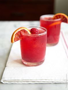 This blood orange bourbon cocktail is similar to a whiskey sour. Made with a combination of citrus juices and ginger syrup, a unique and fresh sour mix ensues.