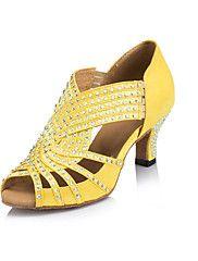 Zapatos de baile (Amarillo) - Danza latina - No Personalizable - Tacón bajo