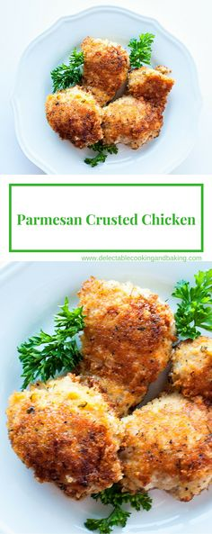 Parmesan Crusted Chicken at Delectable, www.delectablecookingandbaking.com