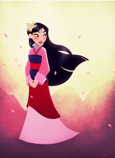 Mulan the chinese prinsses Punk Disney, Disney Pixar, Disney Fan Art, Disney Animation, Disney E Dreamworks, Heros Disney, Disney Princess Art, Disney Nerd, Disney Girls