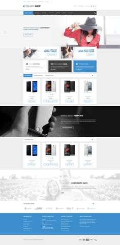 SquareShop is fully #responsive, lightweight and #modern #VirtueMart #Template…