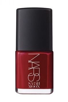 A classic red for fall... You can't really go wrong. Sarah Moon Nail Polish In La Dame En Noir, NARS $20