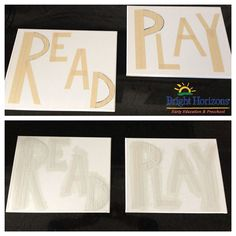 For different areas of the basement playroom.....read, play, snuggle, create