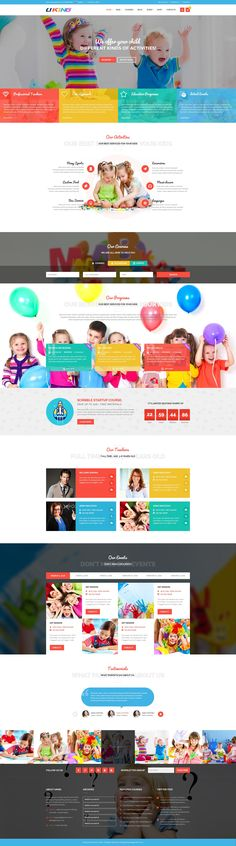 Uking | Clean and Creative PSD Template designed for #kindergartens, #preschool, art school, baby & #kids products online shop or creative small business #websites. #psdtemplates