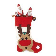 Ajutorul lui Mos Craciun are un rol nou acum: are grija de dulciurile si darurile tale! Gadget, Christmas Stockings, Holiday Decor, Home Decor, Feltro, Presents, Boots, Needlepoint Christmas Stockings, Decoration Home