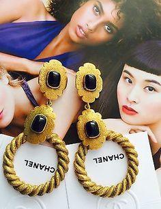 Original-Chanel-Paris-Designer-Luxus-Schmuck-Ohrclipse-Earrings-RUNWAY