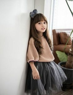 Plaid Skirt Outfit Fepege Toddler Baby Girls Long Sleeve Doll Collar T-Shirt Tops Blouse